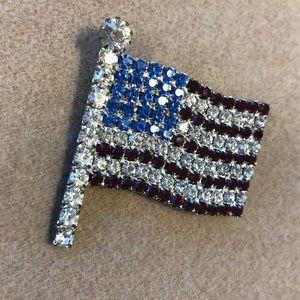🇺🇸American flag rhinestone pin 🇺🇸